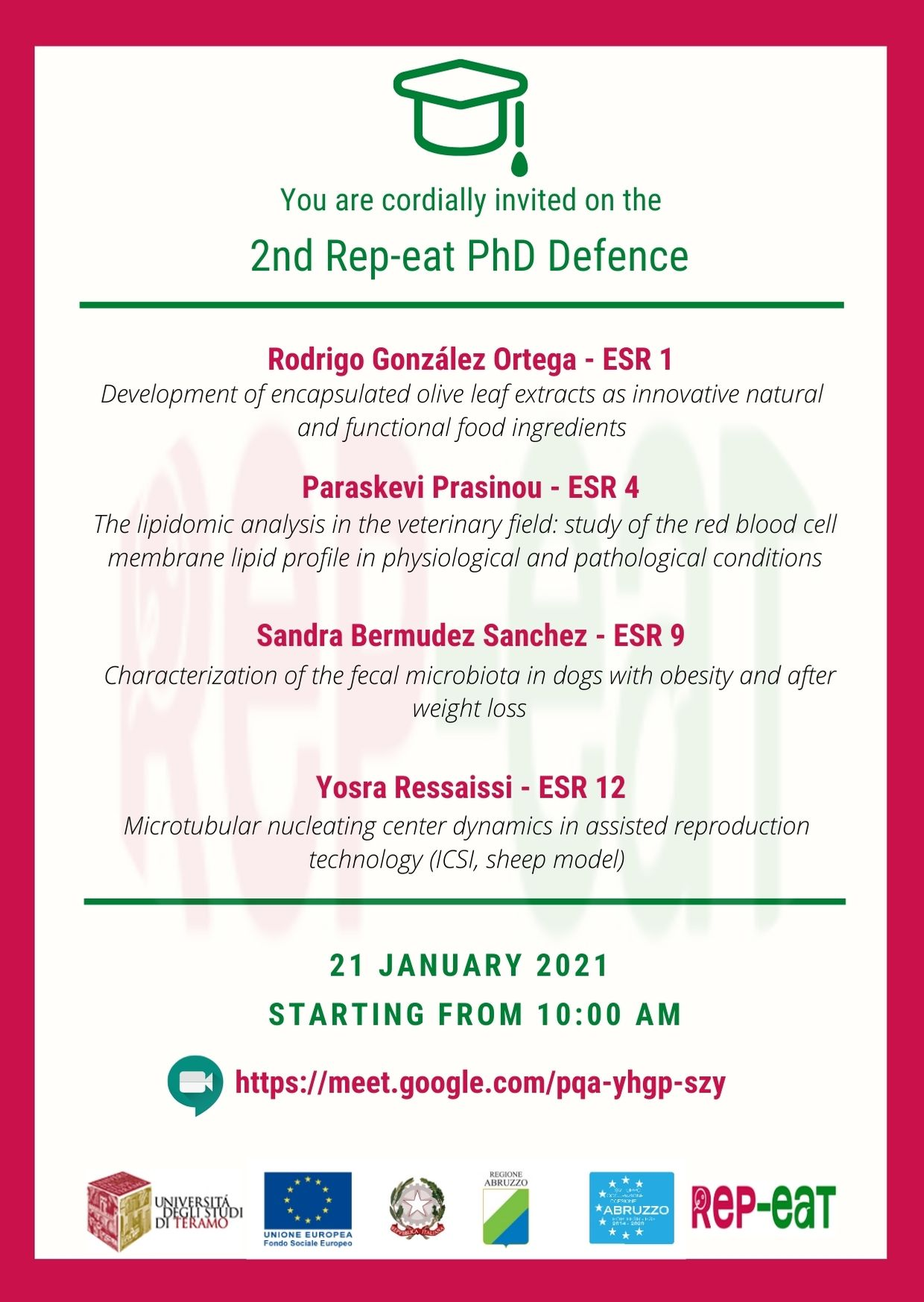 Invitation 1st PhD Session
